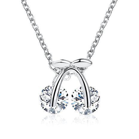 Circón colgante de cereza collar de cadena de clavícula moda collar corto al por mayor NHDP183752's discount tags