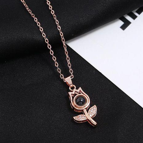 520 collar colgante femenino 100 idiomas Te amo collar de proyección NHKQ183448's discount tags