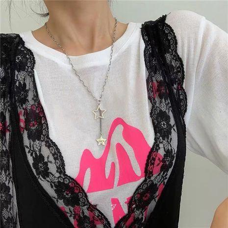 Estrella pentagrama borla suerte collar hembra clavícula cadena estilo antiguo retro minimalista collar NHYQ183673's discount tags