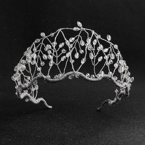 Aro de cuentas hecho a mano con temperamento de la corona de joyería de cristal aro de pelo al por mayor de moda NHHS183582's discount tags