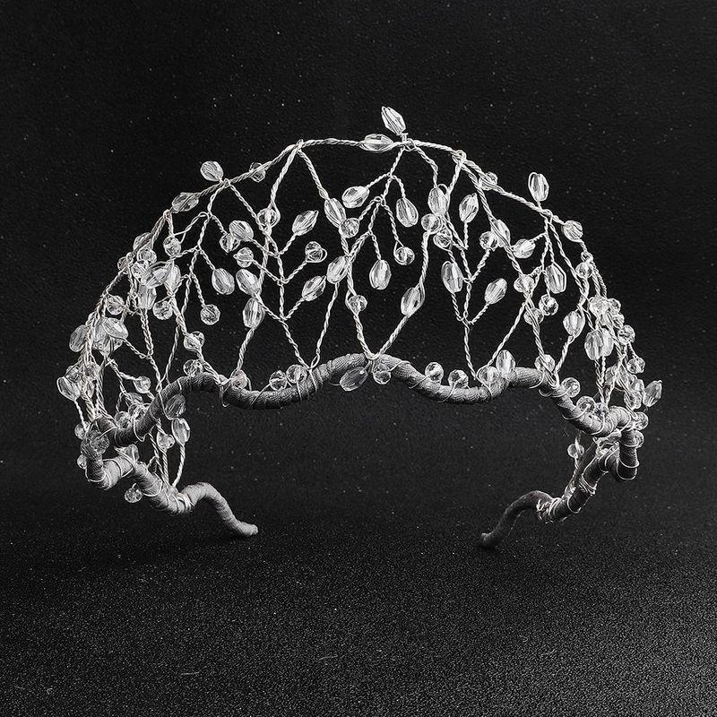 Handmade beaded crown temperament wedding jewelry crystal hair hoop wholesales fashion NHHS183582