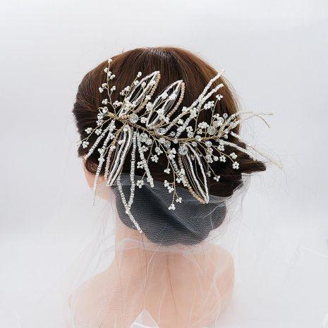 Bria Jewelry Eaby New Fairy Hair Ornament Diadema de perlas hecha a mano NHHS183585's discount tags