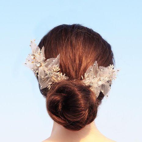 Diadema de novia de encaje de tela al por mayor de moda NHHS183590's discount tags