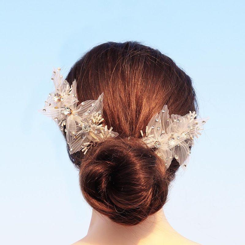 Bridal wedding lace fabric headband wholesales fashion NHHS183590