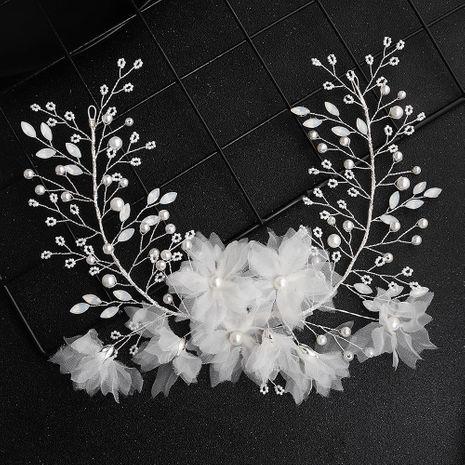 Guirnalda de diamantes de imitación blanca coreana hecha a mano perla diadema joyería nupcial NHHS183598's discount tags