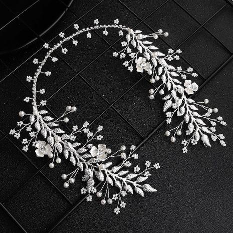 Joyería de la boda nueva aleación flor rhinestone pelo banda vestido de novia tocado al por mayor de moda NHHS183600's discount tags