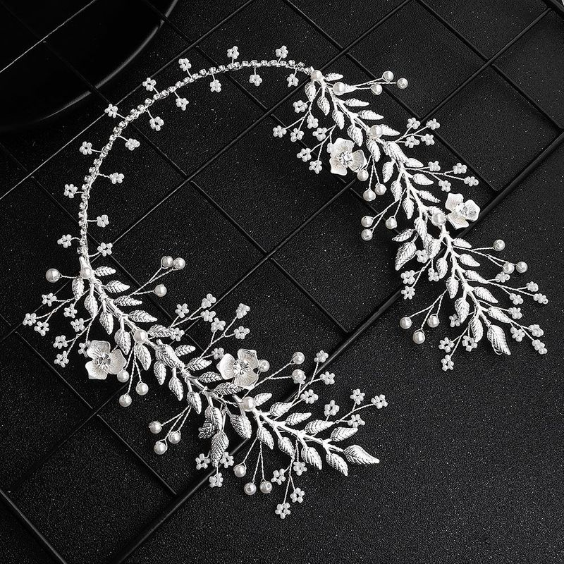 Wedding jewelry new alloy flower rhinestone hair band wedding dress headdress wholesales fashion NHHS183600