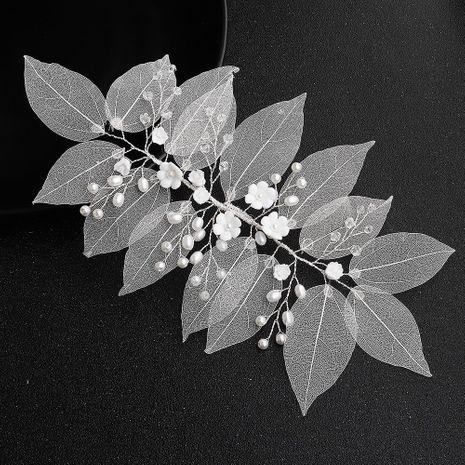 La simulación de encaje deja flores de arcilla suave joyería de boda hecha a mano con banda para el cabello al por mayor de moda NHHS183602's discount tags