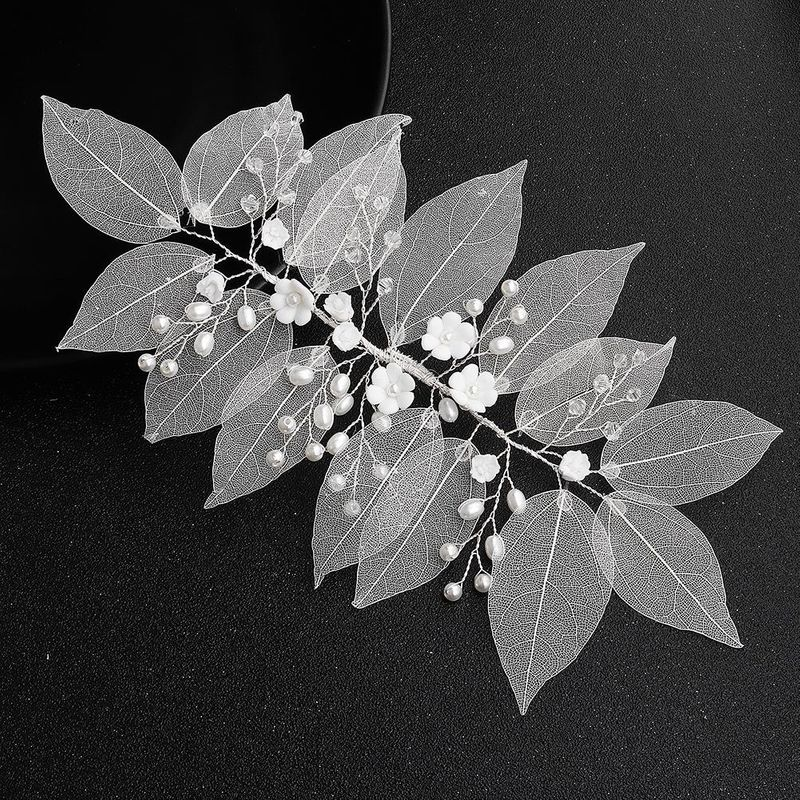 Lace simulation leaves soft clay flowers handmade hair band wedding jewelry wholesales fashion NHHS183602