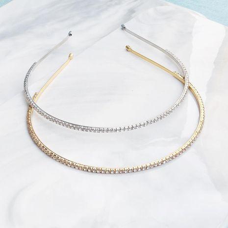 Joyería nupcial al por mayor diadema salvaje diadema simple diamante al por mayor de moda NHHS183605's discount tags