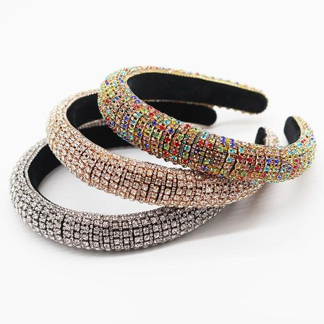 New European and American Baroque Full Diamond Color Luxury Prom Headband Gift Hair Accessories NHWJ183725's discount tags