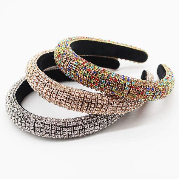 New European and American Baroque Full Diamond Color Luxury Prom Headband Gift Hair Accessories NHWJ183725