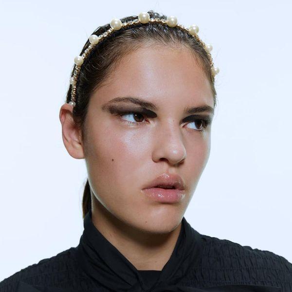 Fashionable Pearl Hairband Alloy Diamond High-end Hair Accessories wholesales fashion NHMD183547