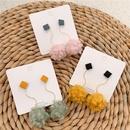 Plush earrings 2019 new cloud hair ball earrings long wholesales fshion NHYQ183692