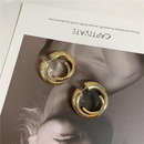 Metal horn curly fashion wild creative earrings women personality playing cool punk style NHYQ183664