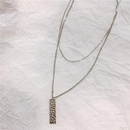 Clavicle chain womens simple long strip double layered necklace wholesales fashion NHYQ183696
