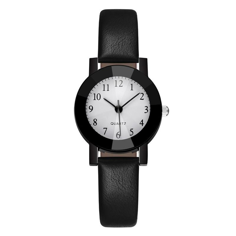 Female student hand watch black shell fine belt quartz casual watch watch NHSY188843