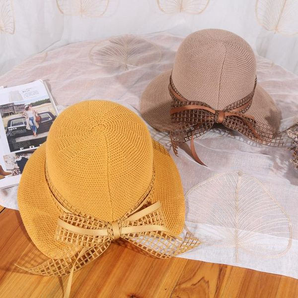 New fisherman hats women bow breathable hats wholesale NHHY188913