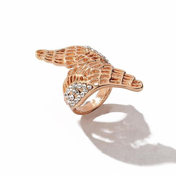 Best selling leaf ring personality angel wings ring cross ring U-shaped ring ring NHCU188969