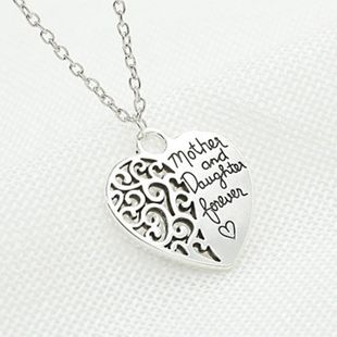 mother and daughter eternal love necklace female peach heart necklace NHCU188975's discount tags