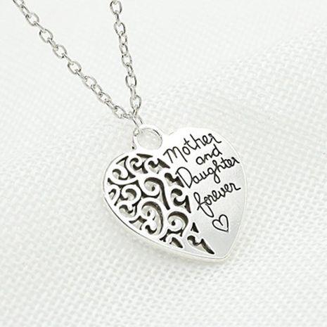 collier d'amour éternel mère et fille collier coeur de pêche femelle NHCU188975's discount tags