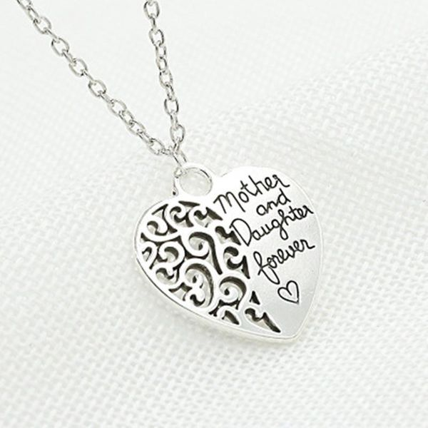 mother and daughter eternal love necklace female peach heart necklace NHCU188975