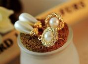 Pearl earrings water drop earrings retro earrings NHCU188976