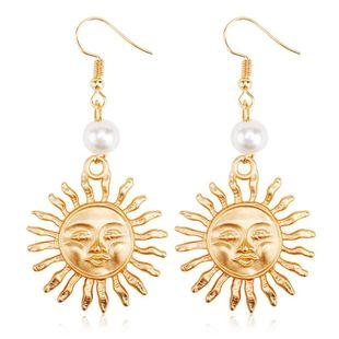 Personalized Pearl Sun Flower Stud Earrings NHCU189006's discount tags