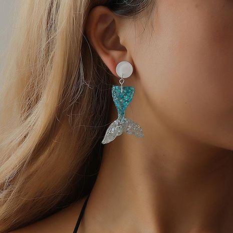 Stud Earrings Cute Fishtail Ear Stud Earrings Fashion Wild Earrings NHCU189015's discount tags