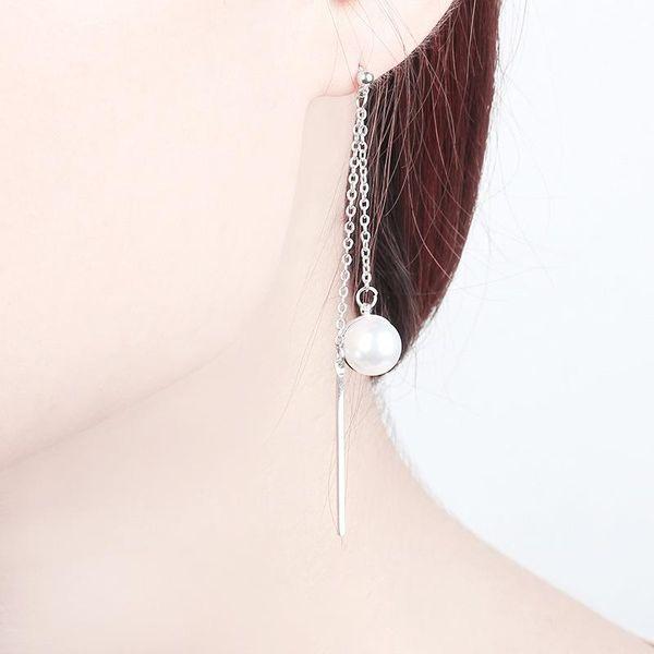 Long Earrings Pearl Tassel Multi-layer Earrings Female Wild Chain Stick Stick Earrings Earrings NHCU189018