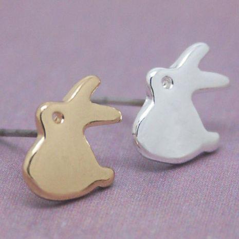 Alloy plating gold silver hooligan rabbit earrings animal earrings wholesale NHCU189019's discount tags