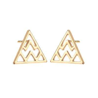 Geometric Hollow Triangle Earrings English Letter W Ear Studs Lightning Stud Earrings Wholesale NHCU189041's discount tags