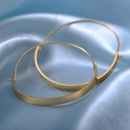Womens simple half circle hoop earrings earrings women NHCU189045