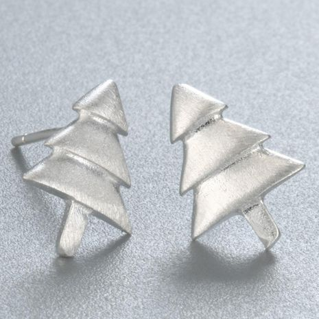 Hot sale classic brushed christmas tree earrings wholesale NHCU189058's discount tags