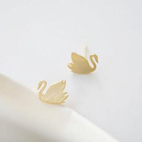 Best selling earrings alloy plating handmade smooth goose goose earrings animal earrings wholesale NHCU189059's discount tags