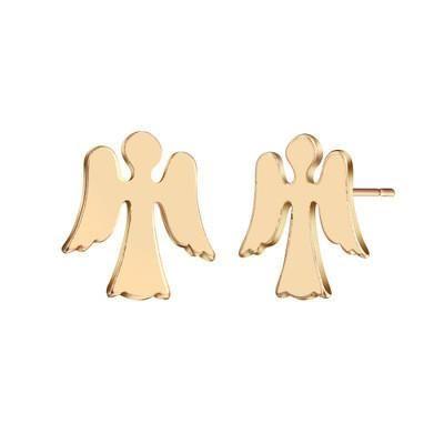 Ear Studs Angel Wings Cross Ear Studs NHCU189061