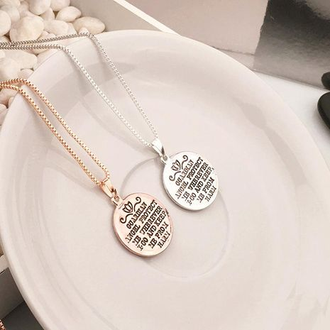 Alphabet Love Guardian Angel Necklace NHPV189097's discount tags