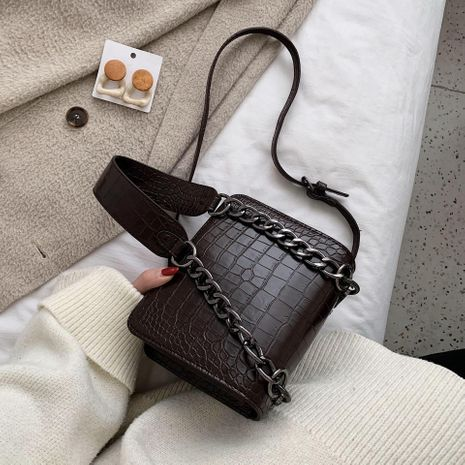 Shanghai New 2019 Winter New Fashion Women's Bag Fashion Wild Retro Small Square Bag Chain Shoulder Hong Kong Style Shoulder Bag NHTC189263's discount tags