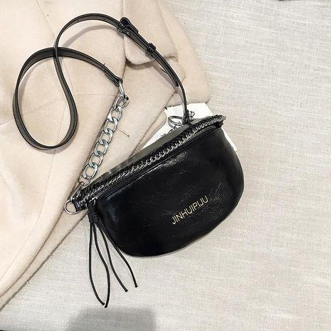 Chain bag women's new chest bag waist bag texture wideband messenger bag NHTC189307's discount tags