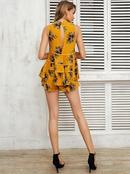 Black printed sleeveless dress sexy printed chiffon dress wholesale fashion womens clothes NHDE189508