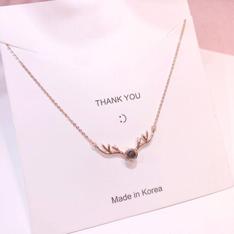 Antler Drop Heart Necklace in Sterling Silver NHKL189566