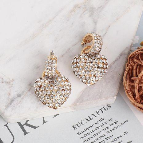 Earrings with micro-set rhinestones and large zircon love heart-shaped studs women earrings NHJJ189625's discount tags