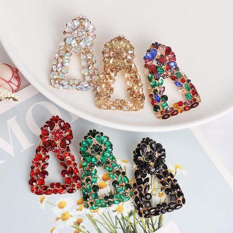 Geometric Hot Earrings Colorful Alloy Diamond Earrings NHJJ189628's discount tags