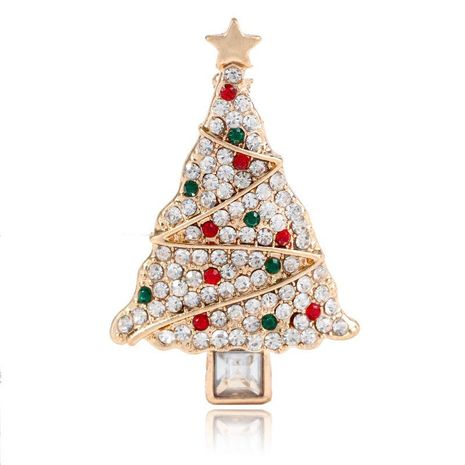 Fashion clothing creative Christmas tree brooch NHKQ189654's discount tags