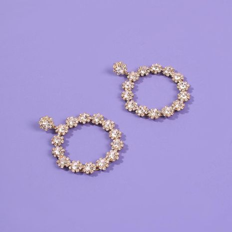 New floral earrings diamond geometric baroque earrings women's wholesale NHMD189658's discount tags