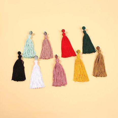 New earrings beaded tassel earrings romantic earrings NHMD189670's discount tags