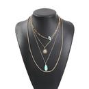 Popular fine jewelry street shooting multilayer alloy elegant pendant necklace women NHMD189672