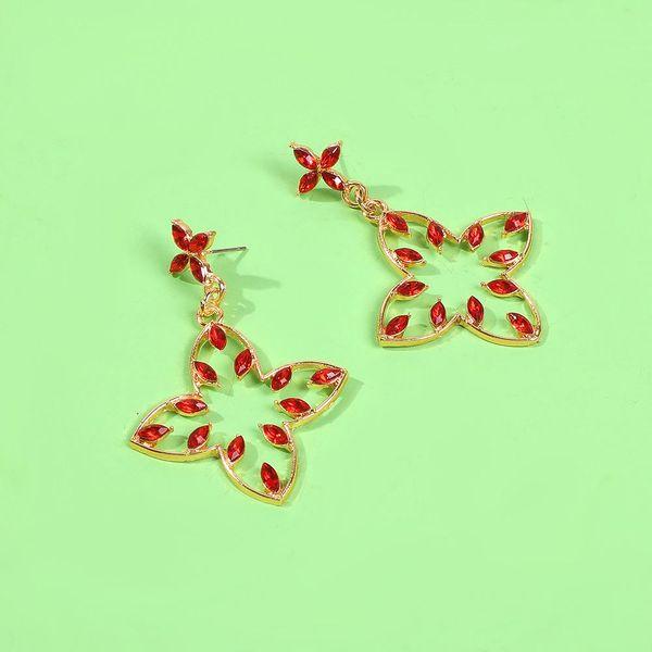 Trendy irregular earrings female diamond geometric baroque earrings simple fashion delicate earrings NHMD189682