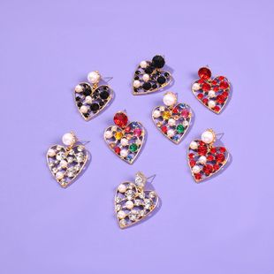 Love earrings women's sweet earrings with pearl and diamond studs NHMD189683's discount tags