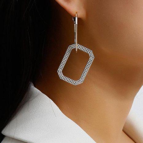 Jewelry pop geometric women's earrings with rhinestones NHXR189703's discount tags